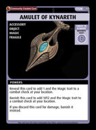 Amulet Of Kynareth - Custom Card