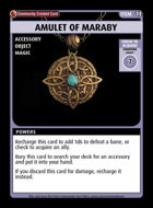 Amulet Of Maraby - Custom Card