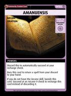 Amanuensis - Custom Card