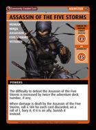 Assassin Of The Five Storms - Custom Card