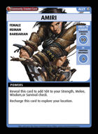 Amiri - Custom Card