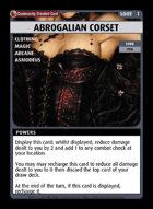 Abrogalian Corset - Custom Card
