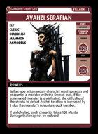 Avahzi Serafian - Custom Card