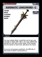 Axiomatic Longsword +2 - Custom Card