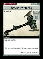 Ancient War Axe - Custom Card