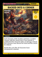 Backed Into A Corner - Custom Card