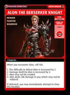 Alon The Berserker Knight - Custom Card