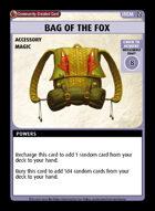 Bag Of The Fox - Custom Card