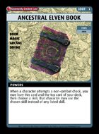 Ancestral Elven Book - Custom Card