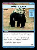 Honey Badger - Custom Card