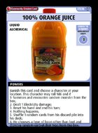 100% Orange Juice - Custom Card
