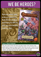 Pathfinder Adventure Card Game We Be Heroes? Set