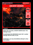 Ancient Demon - Custom Card