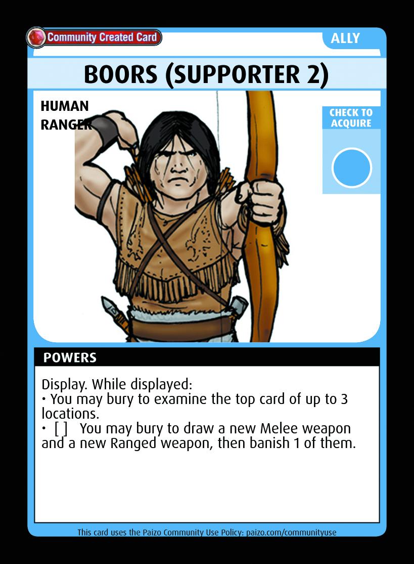 Boors (supporter 2) - Custom Card