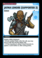 Jayna Lemore (supporter 3) - Custom Card