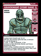 Graveknight (story Bane 1) - Custom Card