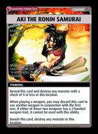 Aki The Ronin Samurai - Custom Card
