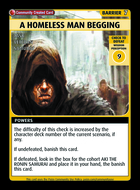 A Homeless Man Begging - Custom Card