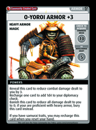 O-yoroi Armor +3 - Custom Card