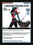 2 Weapons Fighting Style - Custom Card