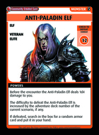 Anti-paladin Elf  - Custom Card