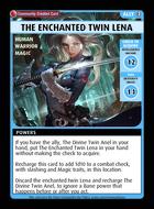 The Enchanted Twin Lena - Custom Card