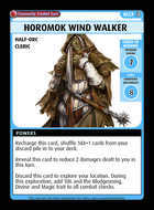 Horomok Wind Walker  - Custom Card