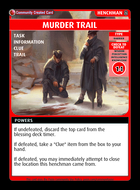 Murder Trail - Custom Card