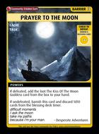 Prayer To The Moon - Custom Card