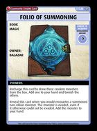 Folio Of Summoning - Custom Card