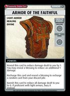 Armor Of The Faithful - Custom Card