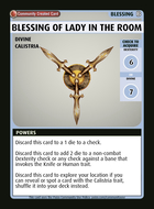 Blessing Of Lady In The Room - Custom Card
