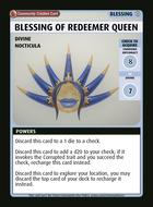 Blessing Of Redeemer Queen - Custom Card