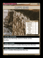 Cliff's Edge - Custom Card