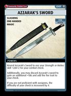 Azzarak's Sword - Custom Card