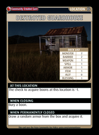 Destroyed Guardhouse - Custom Card