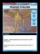 Pegasus Stallion - Custom Card