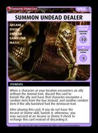 Summon Undead Dealer - Custom Card