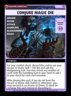 Conjure Magic Die - Custom Card