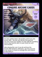 Conjure Arcane Cards - Custom Card
