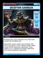 Deceptive Gambler - Custom Card