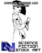 Science Fiction Stock Art: Biotech Lab Assistant