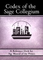 Sig: Codex of the Sage Collegium