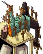 Stock Art: Gingerbread Golem Swarm Fantasy