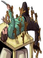 Stock Art: Gingerbread Golem Swarm Modern