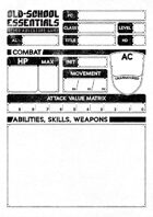 Old-School Essentials Vagabond Character Sheet