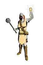 RPG Stock Art - Female Human Cleric