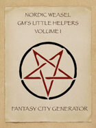 Nordic Weasel GMs Little Helper: Fantasy City Generator