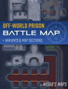 Off-World Prison - Sci-Fi Battle Map