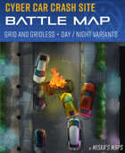 Cyber Car Crash Site - Urban Battle Map